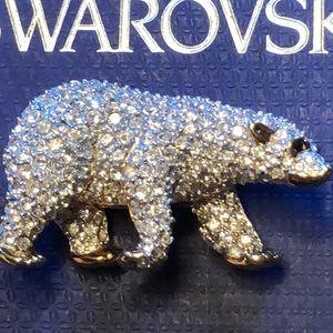 Signed Swarovski Brooch